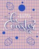 Счастливая поздравительная открытка литерности пасхи Стоковые Изображения
