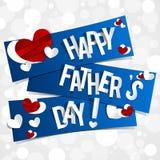 Счастливая поздравительная открытка дня отцов Стоковое Фото
