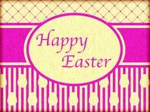 Счастливая поздравительная открытка пасхи винтажная Стоковые Фото