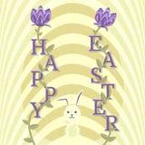 Счастливая поздравительная открытка пасхи, предпосылка вектора Стоковая Фотография