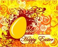 Счастливая поздравительная открытка пасхи с яичком Стоковая Фотография