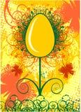 Счастливая поздравительная открытка пасхи с яичком Стоковые Изображения