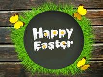 Счастливая поздравительная открытка пасхи Стоковые Изображения