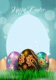 Счастливая поздравительная открытка пасхи Стоковое Изображение