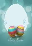 Счастливая поздравительная открытка пасхи Стоковое Фото