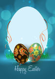 Счастливая поздравительная открытка пасхи Иллюстрация штока
