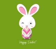 Счастливая поздравительная открытка пасхи Стоковые Изображения RF