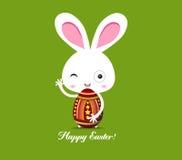 Счастливая поздравительная открытка пасхи Стоковое фото RF