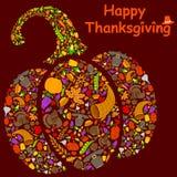 Счастливая поздравительная открытка праздника благодарения иллюстрация вектора