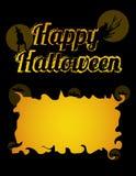 Счастливая поздравительная открытка хеллоуина иллюстрация штока
