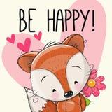 Счастливая поздравительная открытка Стоковые Фотографии RF