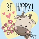 Счастливая поздравительная открытка Стоковое Изображение