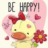 Счастливая поздравительная открытка иллюстрация штока