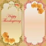 Счастливая предпосылка благодарения с лист лозы Стоковое фото RF