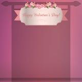 Счастливая предпосылка валентинки Стоковое фото RF