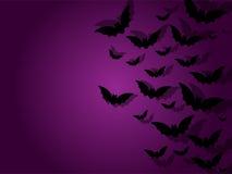Счастливая предпосылка значка летучей мыши призрака хеллоуина Стоковое фото RF