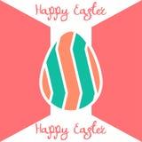Счастливая предпосылка дизайна пасхального яйца плоская Стоковое Фото