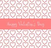 Счастливая предпосылка картины черточки сердца дня валентинки красная Стоковая Фотография RF