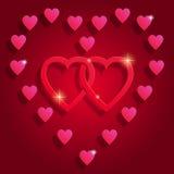 Счастливая предпосылка конспекта дня ` s валентинки Стоковое фото RF