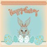 Счастливая предпосылка кролика пасхи Стоковая Фотография