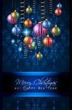 Счастливая предпосылка Нового Года 2016 для вашего рождественского ужина иллюстрация штока