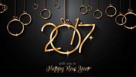 Счастливая предпосылка Нового Года 2017 для ваших сезонных рогулек иллюстрация вектора