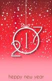 Счастливая предпосылка Нового Года 2017 для приглашений, праздничных плакатов Стоковая Фотография