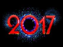 Счастливая предпосылка Нового Года 2017 Стоковые Фотографии RF