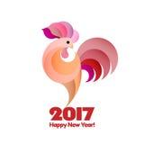 Счастливая предпосылка 2017 Нового Года Стоковые Изображения RF