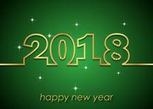 Счастливая предпосылка Нового Года 2018 Стоковые Фото
