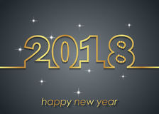 Счастливая предпосылка Нового Года 2018 Стоковые Изображения