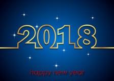 Счастливая предпосылка Нового Года 2018 Стоковая Фотография