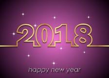 Счастливая предпосылка Нового Года 2018 Стоковая Фотография RF