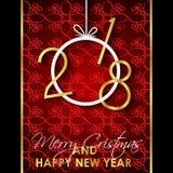 Счастливая предпосылка Нового Года 2018 Стоковые Изображения RF