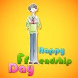 Счастливая предпосылка дня приятельства Стоковая Фотография RF