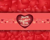 Счастливая предпосылка дня ` s валентинки, дизайн иллюстрации вектора Стоковое Изображение