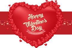 Счастливая предпосылка дня ` s валентинки, дизайн иллюстрации вектора Стоковая Фотография