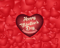 Счастливая предпосылка дня ` s валентинки, иллюстрация Design2 вектора Стоковые Фотографии RF