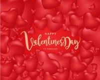 Счастливая предпосылка дня ` s валентинки, иллюстрация Design4 вектора Стоковое Изображение RF