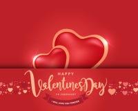 Счастливая предпосылка дня ` s валентинки, иллюстрация Design5 вектора Стоковые Фото