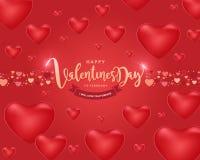 Счастливая предпосылка дня ` s валентинки, иллюстрация Design6 вектора Стоковая Фотография RF