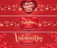 Счастливая предпосылка дня ` s валентинки, иллюстрация Design8 вектора Стоковые Фотографии RF