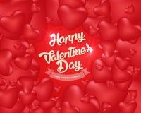 Счастливая предпосылка дня ` s валентинки, иллюстрация Design9 вектора Стоковое Изображение RF