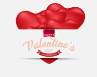 Счастливая предпосылка дня ` s валентинки, иллюстрация Design10 вектора Стоковые Изображения