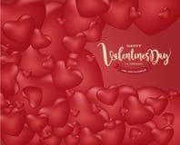 Счастливая предпосылка дня ` s валентинки, иллюстрация Design8 вектора Стоковое фото RF