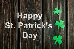 Счастливая предпосылка дня ` s St. Patrick Стоковая Фотография