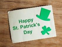 Счастливая предпосылка дня ` s St. Patrick Стоковое Фото