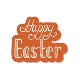 Счастливая предпосылка пасхи типографская Каллиграфическая надпись: Счастливая пасха Стоковое Фото