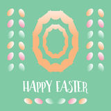 Счастливая предпосылка поздравительной открытки яичек пасхи красочная Стоковые Изображения RF