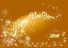 Счастливая предпосылка праздника Нового Года с надписью 2016 запачканный Стоковые Изображения